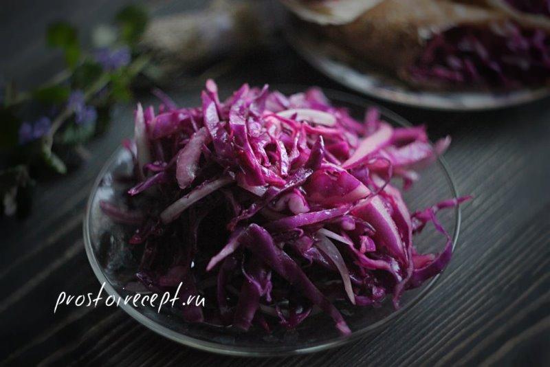 Салат и роллы из краснокочанной капусты