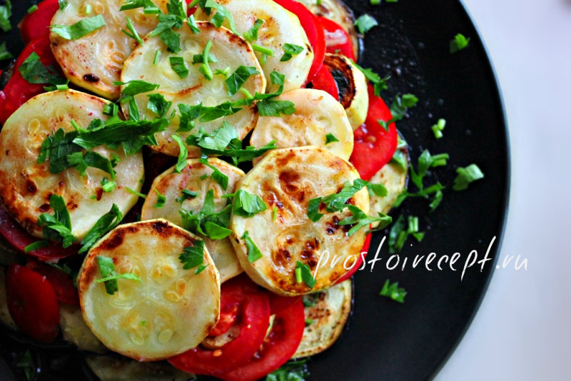 Кабачок, баклажан, помидоры