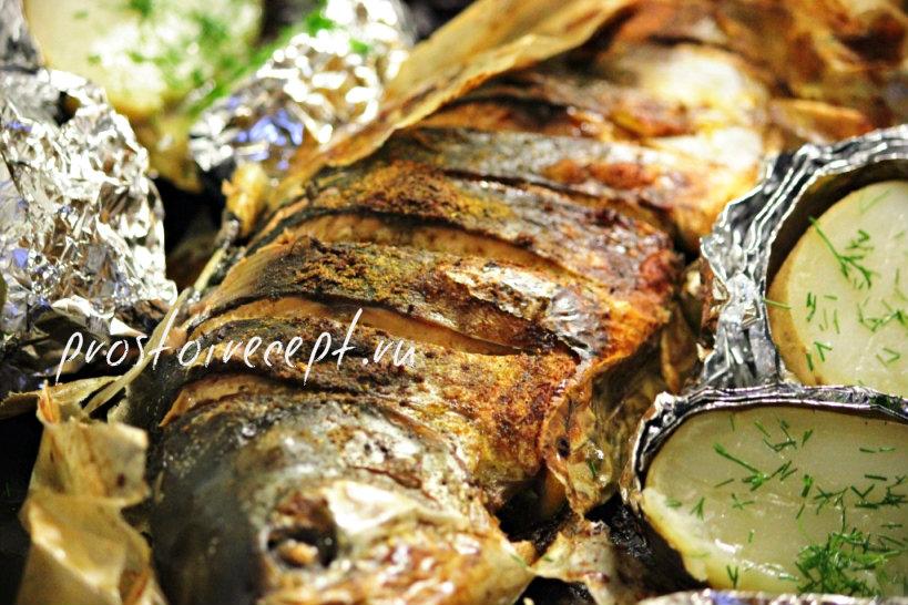 рыба по-деревенски с картошкой