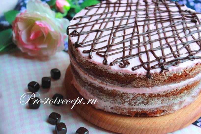 Клубничный Naked cake
